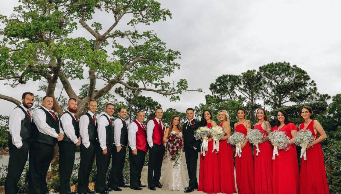 7 dana & jd bridal party