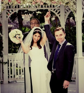 Fun Wedding Ceremony in The Gazebo with South Florida Wedding Officiant Reverend Paul Goldman