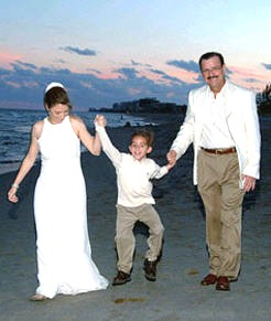 Blended Family Wedding Ceremony on The Beach