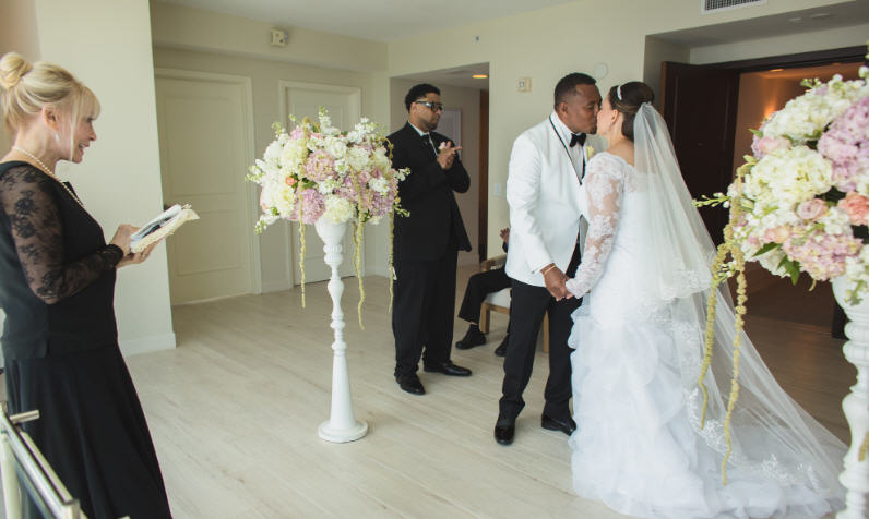 Wedding Ceremony in South Florida with Social Distancing During Coronavirus